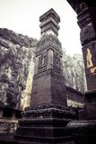 Kailash或Kailasanatha洞寺庙在Ellora陷下 印度 免版税库存照片