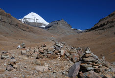 Kailash. The  path to  the foot of  Kailash Royalty Free Stock Photos