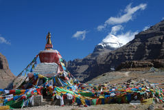 Kailash. The pagoda and the   profile   of  Kailash Royalty Free Stock Photos