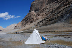 Kailash. Pilgrims' camp on the way around the sacred mountain Stock Image