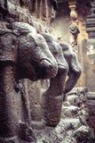 Kailash lub Kailasanatha jamy świątynia w Ellora zawala się indu Zdjęcie Royalty Free