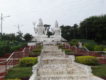 Awesome view of Lord Shiva & parvati statue . Royalty Free Stock Images