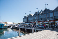 Kaili`s Fish Market and Boardwalk Stock Images