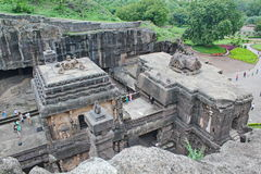 The Kailsa temple, Ancient Hindu stone carved temple, Cave No 16, Ellora, India Stock Images