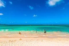 Kailua海滩在奥阿胡岛,夏威夷 免版税库存图片