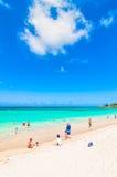 Kailua海滩在奥阿胡岛,夏威夷 免版税图库摄影
