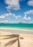 Kailua海滩,夏威夷 免版税库存照片