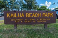 Kailua海滩 库存图片