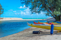 Kailua Beach. Located on the Windward Coast of the island of Oahu, Hawaii. A awesome hub for a multitude of water sports. Kailua Beach has been highly ranked in Royalty Free Stock Photos