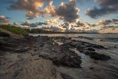 Kailua Beach Sunset Oahu Hawaii Royalty Free Stock Image