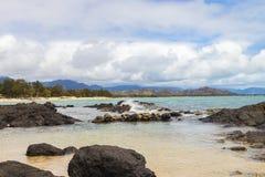 Kailua Beach. A view of Kailua Beach and the Koolau Mountains Stock Images