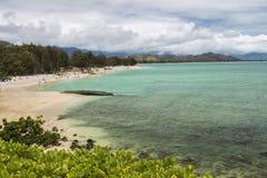 Kailua Beach. A view of Kailua Beach and the Koolau Mountains Stock Photo
