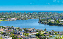 Kailua ha incantato i laghi Immagini Stock Libere da Diritti