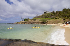 Kailua Kayakers Royalty Free Stock Photography