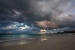 Kailua strand Oahu Hawaii Arkivfoton
