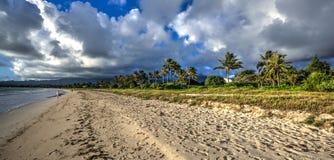 Kailua strand Oahu Hawaii Arkivbilder