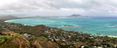 Kailua zatoka, Oahu Fotografia Stock