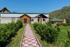 Recreation center health-improving center maral breeding farm Kaimskoye is located on the territory of the Altai krai. Kaimskoye, Russia - July 18, 2015 Royalty Free Stock Photo