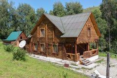 Recreation center health-improving center maral breeding farm Kaimskoye is located on the territory of the Altai krai. Kaimskoye, Russia - July 18, 2015 Royalty Free Stock Image