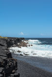 Kaimu Black Sand Beach, Big Island, Hawaii Stock Photography