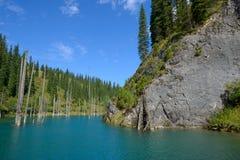 Kaindy lake Royalty Free Stock Photography