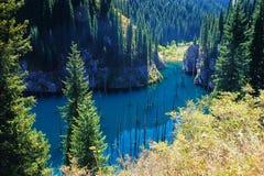Kaindy Lake in Tien Shan mountain, Kazakhstan. Stock Image