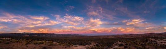 Kaiparowits plateau Escalante wschodu słońca Uroczysta panorama Zdjęcia Stock