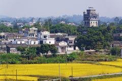 Kaiping Diaolou и деревни стоковые изображения rf