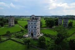 Kaiping Diaolou, Китай Стоковое Фото