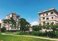 Kaiping Diaolou buildings royalty free stock photo