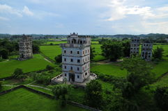 Kaiping Diaolou, China foto de archivo