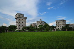 Kaiping Diaolou, Cina Fotografia Stock Libera da Diritti