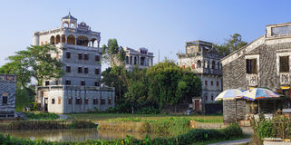 Kaiping Diaolou et villages en Chine Photographie stock