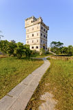 Kaiping Diaolou houses in Guangdong, China. It is the landmark of Kaiping stock images