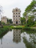 Kaiping Diaolou watchtower in Chikan Unesco world heritage site royalty free stock photography