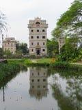 Kaiping Diaolou watchtower i Chikan Unesco-världsarv Royaltyfri Fotografi