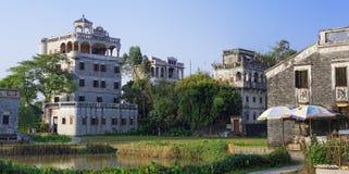 Kaiping Diaolou y pueblos en China fotografía de archivo