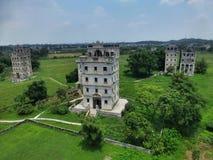 Kaipingen Diaolou (watchtowers) i det Guangdong landskapet i Kina Royaltyfria Foton