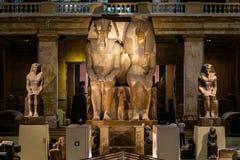 Kair, Egipt, 25 05 2018 wśrodku muzeum Egipskie dawność stwarza ognisko domowe rozległa kolekcja antyczna grafika zdjęcia royalty free