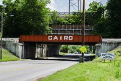 Kair poręcza most Obrazy Stock