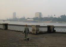 Kair, styczeń 05 2008/: Nadbrzeże Nil rzeka zdjęcie royalty free
