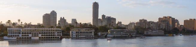 Kair Zamalek panoramiczny Fotografia Royalty Free