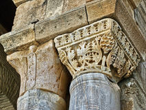 Kairaouen big Mosque column. Detail Royalty Free Stock Image