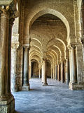 Kairaouen Mosque. Arches and corridors of Kairaouen big Mosque Stock Photography