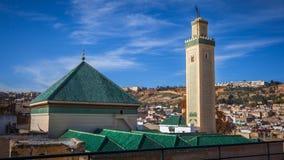 Kairaouine meczet, fez Fotografia Royalty Free