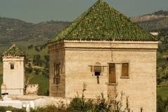 Kairaouine mosque minaret at Fez, Morocco Stock Photos