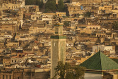 Kairaouine mosque minaret at Fez, Morocco Stock Photography