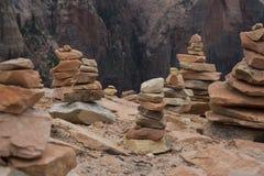 Kairns in het nationale park van Zion Royalty-vrije Stock Afbeeldingen
