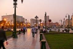 KAIRO EGYPTEN - NOVEMBER 9, 2008: Kairocentrum. Arkivfoto