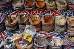 Kairo-Gewürz-Markt Stockbild